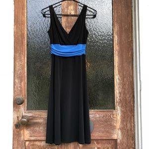 London Times | Sexy Flowy Sleeveless V-Neck Dress